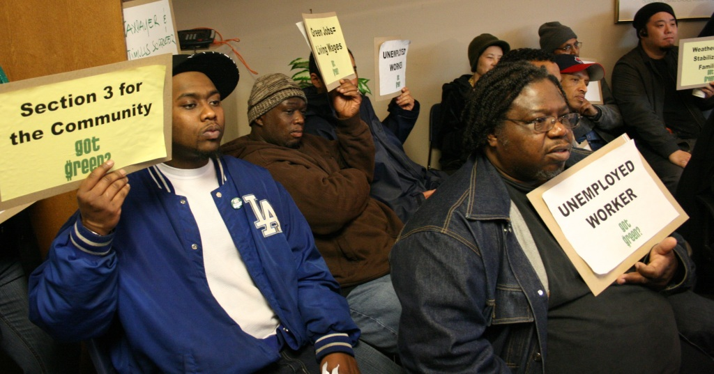Got Green Demands Livable Wage Jobs for the Community from King County Housing Authority