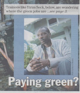 Real Change News Investigates Green Jobs
